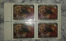 1982 PA Wild Turkey Stamp Pennsylvania Chapter National Wild Turkey Federation