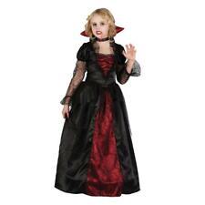 Girls Vampire Princess Costume Dress Kids Halloween Fancy Dress Outfit