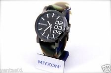Mega Oversized Sport Watch with Camouflage Silicone Band Water Resistant 30M