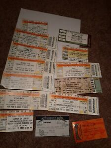 Lot of used concert ticket stubs..mostly Indiana