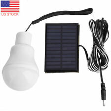 Portable Solar Powered LED Light Bulb In/Outdoor Camping Tent Yard Energy Lamp