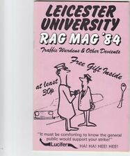 Leicester University Rag Mag 1984. Traffic Wardens & other Devients