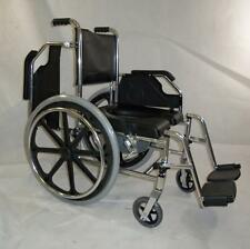3-in-1 Rust-Free Aluminum Bedside Over-Toilet Shower Commode Locking Wheelchair