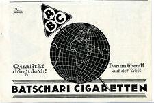 Batschari--Cigaretten-Qualität dringt durch--Werbung von 1926