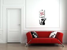 "WALL - Banksy - Rat ""Get Out While You Can"" - Wall Vinyl Decal"