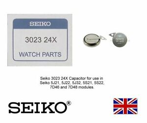 Seiko 3023 24X Battery Capacitor for Seiko 5J21, 5J22, 5J32, 5S21, 5S22 - MT920