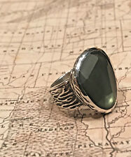 Silpada R1852 Sterling Silver Green Glass Ring Sz 9 New Retail was $79 New