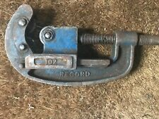 """Vintage Record Pipe Cutter No.102 1/2"""" - 2"""" Plumbing Pipe 3 Wheels"""
