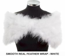 White Marabou Feather Shrug/Wrap/Stole
