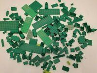 LEGO Mixed Lot of Green Bricks Blocks Pieces Plates