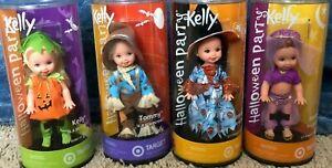 Kelly Doll Halloween Party 2002 Set Jenny Tommy Kelly Lorena Lot of 4