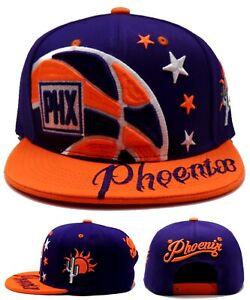 Phoenix New Leader Colossal Suns PHX Desert Purple Orange Snapback Era Hat Cap