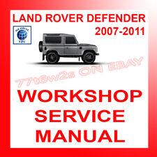 2007-2011 LAND ROVER DEFENDER WORKSHOP REPAIR AND SERVICE MANUAL