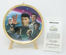 Star Trek The Next Generation The Episodes Unification Collector Plate w/Coa