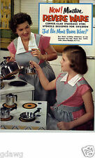 1955 PAPER AD 4 PG Toy Play Revere Ware Pots Pans Sets Tea Coffee Pot Set