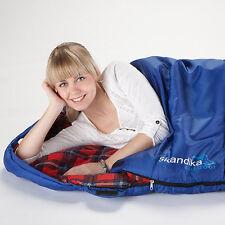 skandika Aberdeen Large Sleeping Bag Right Zip - Blue 220x80cm