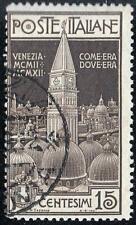 ITALY 1912 VENICE CAMPANILE SC#125 used CV$60.00++ RELIGION