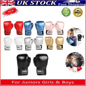 Kids Boxing Training Punching Fight Gloves Juniors Girls & Boys Sparring Mitten