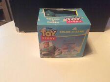 Disney Pixar Toy Story Color-A-Bank Buzz Lightyear MIB
