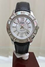 Rotary  Ladies Watch Mother Of Pearl  Dial, Crystal case RRP £160 Genuine (425)