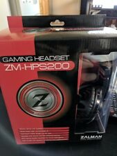 Zalman ZM-HPS200 Black Headband Headsets In Case! Never Opened!