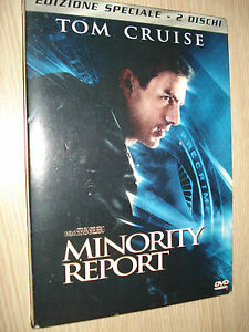DVD Minority Report Édition Spéciale 2 Disques Tom Cruise Italien English