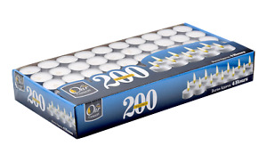 Tea Light Candles - Bulk Pack - White Unscented, 4 hours burn time