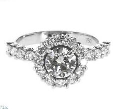 1.80 CT DIAMOND ENGAGEMENT RING L COLOR GIA CERT 18K WHITE GOLD 3.08 grTAX FREE