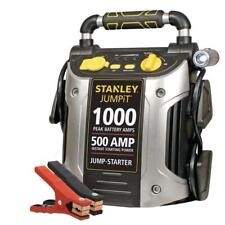 Stanley Car Jump Starter Power Station Charging Port 1000 Peak 500 Instant Amps