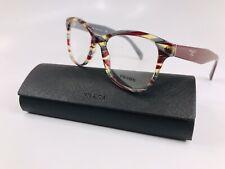 ⭐️ New Prada VPR 12T VAP-1O1 Burgundy & Grey Eyeglasses 51mm with Case