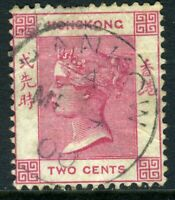 China 1882 Hong Kong 2¢ Rose Pink QV Wmk CCA SG #32a Hankow CDS J579 ⭐⭐⭐⭐⭐⭐