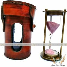 Sand Timer Antique Brass Hourglass Vintage Nautical Maritime Decorative Gift