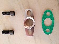 "Billet CNC Aluminum Turbo Oil Drain Return Flange 1/2"" NPT GT25 GT28 GT30 GT35"