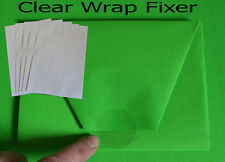 400pc. Gift Wrap Clear Fixer Seal Sticker Round Self Adhesive Christmas Wrapping