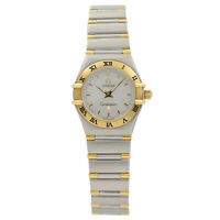 Omega Constellation 18K Yellow Gold Steel MOP Dial Quartz Lady Watch 1362.70.00