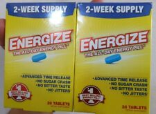 Energize All Day Energy Pill Time Release No Sugar Crash 28 Tablets (2pk) 01/20+
