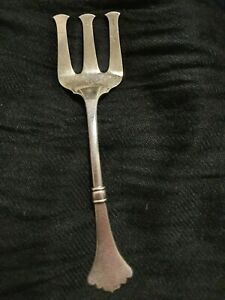 Vintage Chinese Sterling Silver Salad Fork approx 25 gm