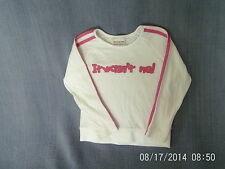 Girls 4 Years - White & Pink  Long Sleeve Top, 'It Wasn't Me!l' Logo - Next