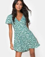 MOTEL ROCKS Elara Dress in Floral Field Green (mr15.1)
