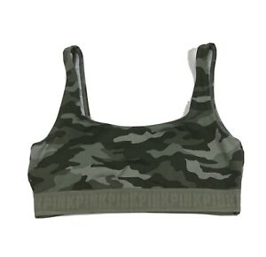 PINK Victoria's Secret Ultimate Lightly Lined Camo Pattern Sports Bra Size Small