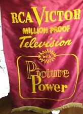Vintage Rca Television Store Banner Display Advertisement Red
