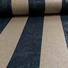 Carat Black and Gold Glitter Stripe Wallpaper Paste the Wall Vinyl 13346-90