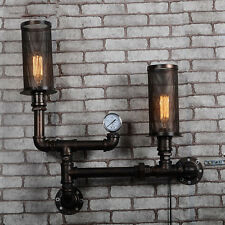Industrial Retro Steampunk Wall Lamp Rustic Wall Light Loft Sconce Pipe Fixture