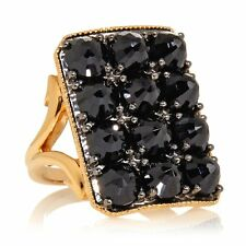 RARITIES CAROL BRODIE 6CT BLACK SPINEL VERMEIL RING SIZE 9 HSN $189.90 SOLD OUT