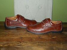 New Mens JOSEF SEIBEL Brown leather Shoes With Adjustable Straps UK 8, EU 42