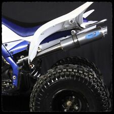 YAMAHA RAPTOR 700 BARKERS FULL DUAL EXHAUST 2006-2014 BLUE TAG & BILLET CLAMPS