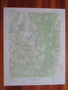 Green Monster Canyon Nevada 1974 Original Vintage USGS Topo Map