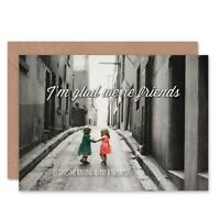 Friends Friendship Little Girls Therapy Blank Greeting Card With Envelope
