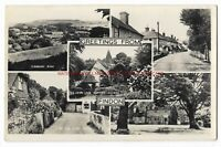 Sussex Multiview Findon nr Worthing Real Photo Vintage Postcard 24.11