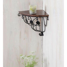 Onlineshoppee Wooden Decorative Corner Wall hanging Bracket Shelf/selves